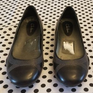 Cole Haan nike air black leather flats